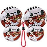 Chef Spaghetti Lover Theme Set of 4 Electric Stove Burner Covers (Chef 2)
