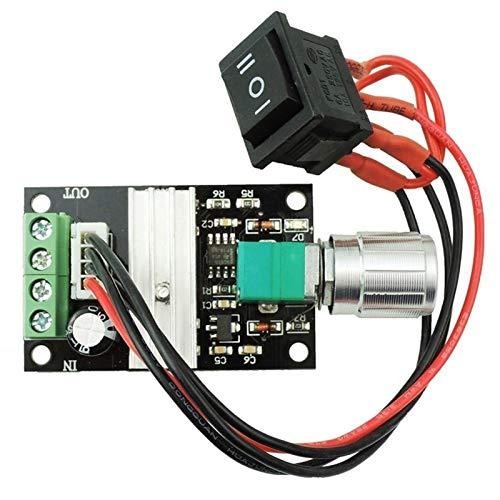 WYanHua-motor de corriente continua Regulador de velocidad PWM Motor, motor de 6/12 / 24V DC, interruptor de controlador de velocidad 3A Regulador de corriente Interruptor de inversión normal, Piezas