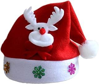 VERBENA LINN Gouden Sneeuwvlok Volwassen Kinderen LED Kerst Hoed Non-woven Hoeden Sneeuwpop Rendier Geschenken Party Xmas ...