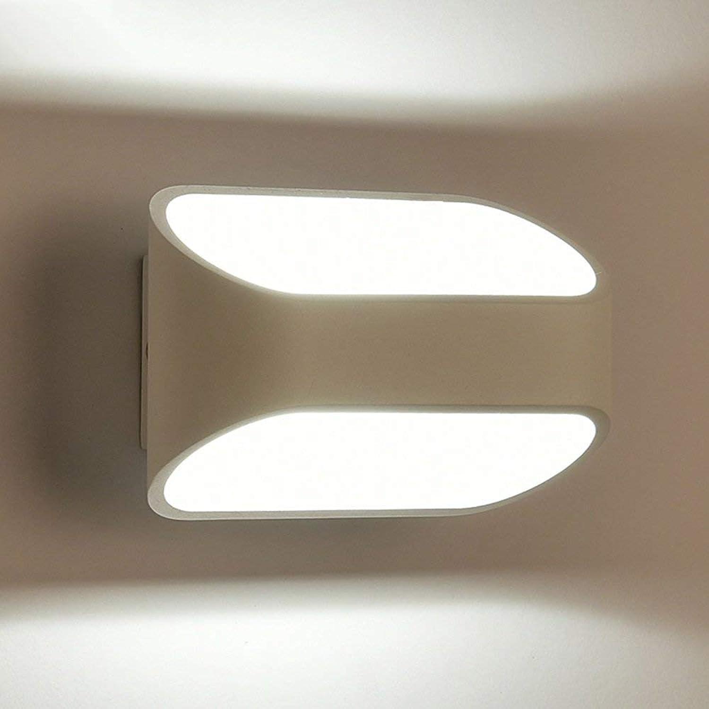 Moderne, einfache Kreative LED-Wand lampe Nachttischlampe Balkon wand Treppenlicht-zeitschalter Persnlichkeit kunst Beleuchtung (Gre  16  10 cm)