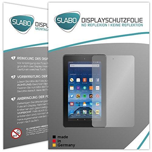 Slabo 2 x Displayschutzfolie für Amazon Fire 17,7 cm 7