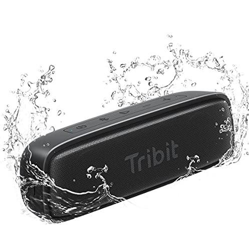 Tribit IPX7 Waterproof Bluetooth Speaker, Ultra-Portable, 12W Loud HD Sound, Bluetooth 5.0 TWS Pairing USB-C Charging, 100ft Range Perfect for Shower Pool Beach Travel, XSound Surf