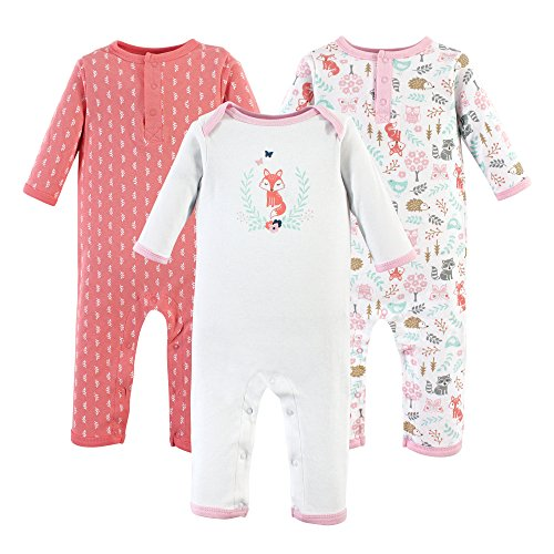 Hudson Baby baby girls Cotton Coverall, Woodland Fox, 18-24 Months US