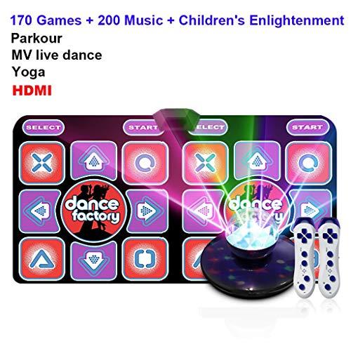 Hoge kwaliteit Dans mat for TV Large Double Wireless Somatosensorische spelen Yoga Parkour Fitness Gifts podium sfeer verlichting, geheugenkaart, onbeperkt updates -dansmat game tv