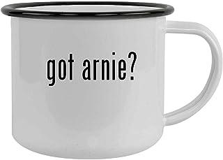 got arnie? - 12oz Camping Mug Stainless Steel, Black