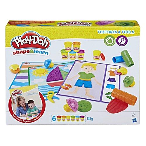Play-Doh B34041020 vormen en leren met kleuren en vormen Textuuren en gereedschappen.