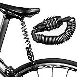 Lucchetto per bicicletta con combinazione a 4 cifre, antifurto, alta sicurezza, cavo antifurto in metallo extra lungo da 1,5 m, per Motocicli, Scooter, Biciclette, Monopattino elettrico