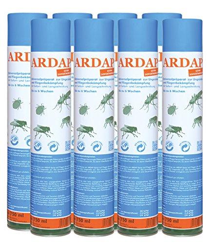 8 x 750 ml Quiko Ardap 077465 Ungeziefer Spray gegen alle Arten von Ungeziefer!