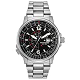 Citizen Men's Eco-Drive Promaster Nighthawk Dual Time Watch with Date, BJ7000-52E