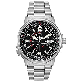 Citizen Men's Eco-Drive Promaster Nighthawk Dual Time Watch with Date, BJ7000-52E (B00074KYC8) | Amazon price tracker / tracking, Amazon price history charts, Amazon price watches, Amazon price drop alerts
