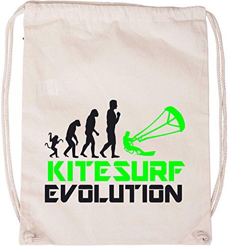 EZYshirt® Kitesurf Evolution Baumwoll Stoffbeutel
