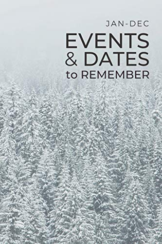 JAN-DEC Events & Dates to Remember: Minimalists Important & Special Dates Log Book | Year-Long Monthly Organizer for Birthdays, Anniversaries, Appointments, etc. | Simple Reminder - Snowy Forest