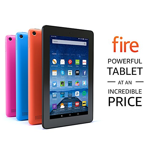 Fire Tablet with Alexa, 7″ Display, 8 GB, Blue – with Special Offers (Previous Generation – 5th)