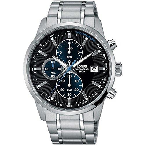 LORUS Herren-Armbanduhr 42MM Armband Edelstahl + GEHÄUSE Batterie RM329DX9