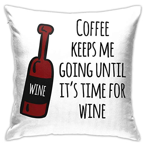 Throw Pillow Cover Cushion Cover Pillow Cases Decorative Linen Coffee Keeps Me Going for Home Bed Decor Pillowcase,45x45CM
