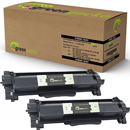 2 Toner ersetzen Brother TN2420 I TN2410 | Für Brother DCP-L 2530 DW, HL-L 2350 DW, MFC-L 2710 DN, MFC-L 2710 DW, MFC-L 2750 DW | Schwarz, neuester Chip