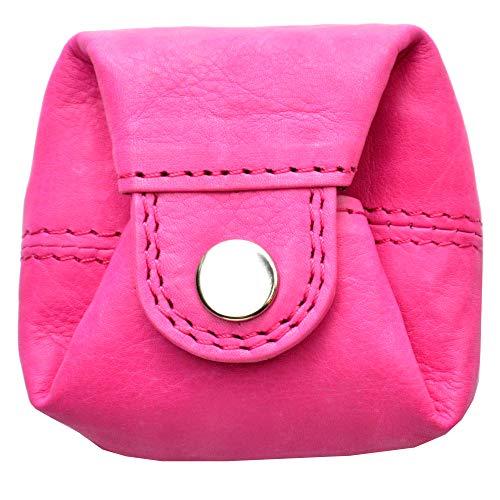 flevado Praktische handliche kleine Mini Münzbörse Schüttelbörse Portemonnaie für Kleingeld/Kinder Geldbeutel (pink)