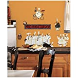 New CHEFS WALL DECALS Kitchen Chef Stickers Cooking Decor Cafe Decorations