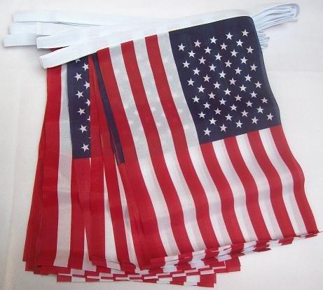 AZ FLAG Guirnalda 4 Metros 20 Banderas de los Estados Unidos 15x10cm - Bandera Americana - USA - EE.UU 10 x 15 cm - BANDERINES