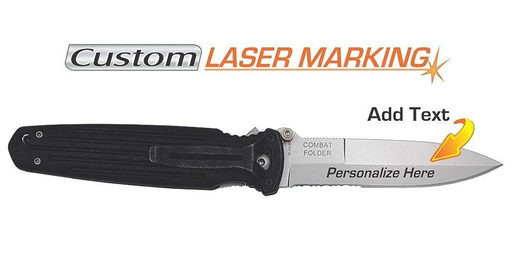 Custom Laser Engraved Gerber Combat Folder Knife 05780