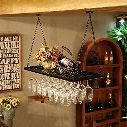 Weinregale, Weinregal Weinglashalter einreihig Stemware Rack-Decke Weinregale Vintage Style Dekoration Anwendung Jede Art von Trinkgläsern Gläser Weingläsern Hält und Flöte-Rack, 100cm (39. WTZ012