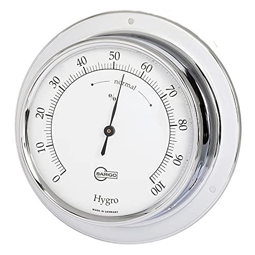 Barigo 783CR Tempo Hygrometer analog Chrom 110mm