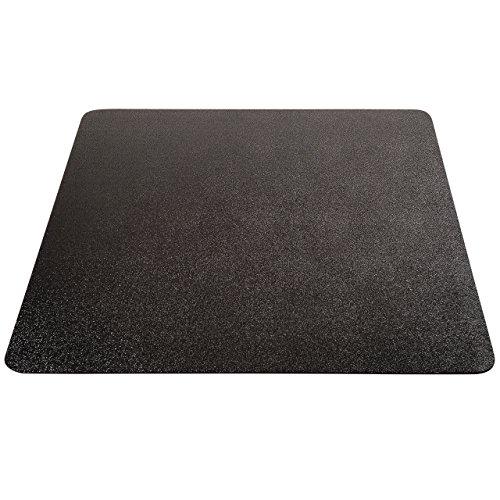 "Deflecto EconoMat Chair Mat, for Carpet, Straight Edge, Black, 46"" x 60"""