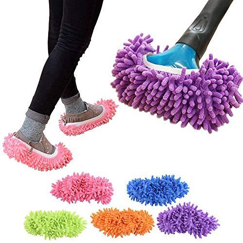 Cali Jade Putzschuhe Set 10er, mit hoher Wasser- und Schmutzaufnahme für Haus Boden Staub Schmutz Haare Reinigung, Mop Schuhe Wiederverwendbare Mikrofaser Weiche Waschbare