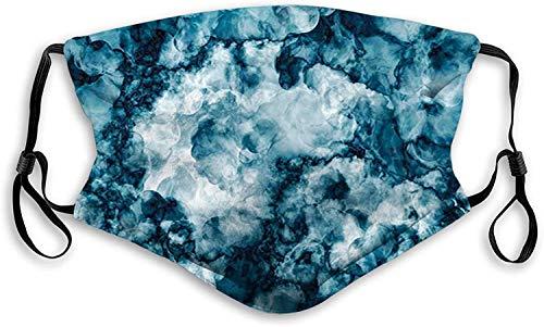 Fillter - Paño de boca 3D para adultos y niños, piedra de mármol envejecido con efecto fractal desteñido y degradado, filtro reutilizable lavable al polvo
