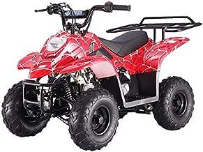 X-PRO 110cc ATV Quads Youth ATV Quad ATVs 4 Wheeler (Spider Red)
