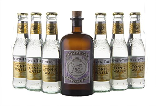 Monkey 47 Gin (1 x 0.5 l) mit Fever Tree Premium Indian (6 x 0.2 l)