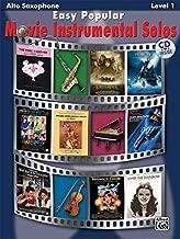 Easy Popular Movie Instrumental Solos: Alto Sax, Book & CD (Easy Instrumental Solos Series)