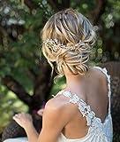 Unicra Braut Hochzeit Haarkamm Silber Blume Haar Zubehör Kristall Braut Kopfbedeckung für Frauen