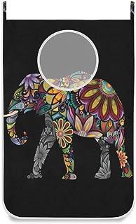 Panier à linge suspendu sac porte éléphant / mur / placard suspendu grand panier de sac à linge pour organisateur de range...
