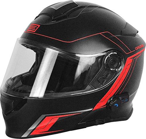 Origine Helmets 204271727100104 Delta Motion Matt Casco Apribile con Bluetooth Integrato, Rosso, M
