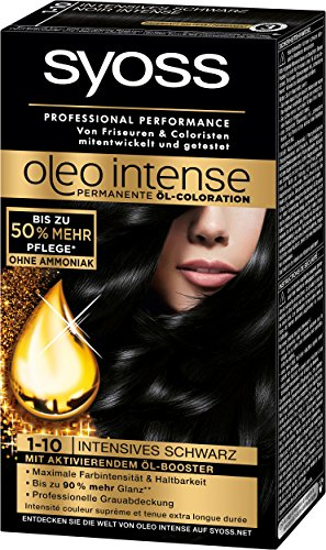 Syoss Oleo Intense Coloration, 1-10 Schwarz, 3er Pack (3 x 115 ml)