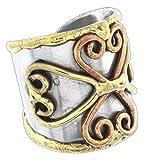 Anju Cuff Ring Welded Mixed Metal Design -...