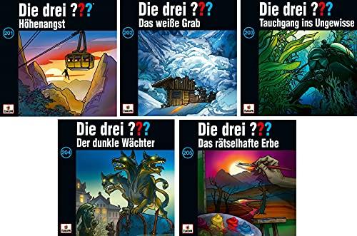 Die Drei ??? (Fragezeichen) - Folge/CD 201-205 im Set - Deutsche Originalware [5 CDs]