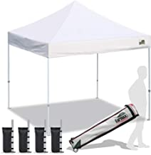 Eurmax Pop up Canopy Tent Commercial Instant Shelter with Wheeled Roller Bag, Bonus 4 Canopy Sand Bags