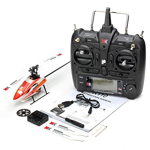 Quickbuying Original XK K110 Blash 6CH Brushless 3D 6G System RC Helicopter Without Transmitter BNF