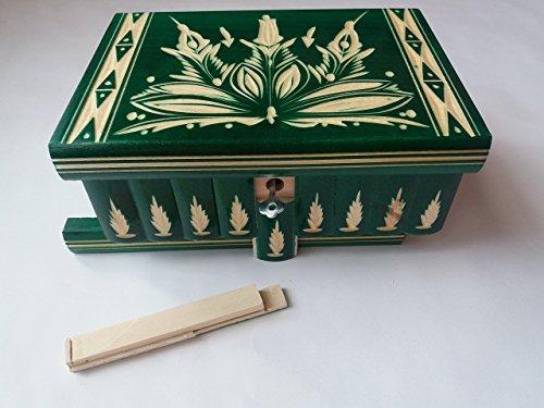 Grun große, riesige Kasten, Holz Puzzle Kasten, geheimen Kasten, Magie Zauber Kasten,Schmuck schatulle, Kiste, handgeschnitzt aus Holz Aufbewahrungsbox, geschnitzt Kasten, holz Spielzeug für Kinder