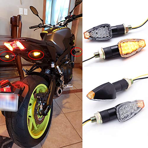 2 Paar Motorrad Blinker Licht Motorrad 12V 14 LED Blinkerleuchten für CB1000R CB1300 CB600F Shadow Z1000 GSF1250