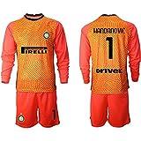 HÄndÄnvīc - Conjunto de camiseta de fútbol para niños, diseño de equipo de fútbol naranja 4XS