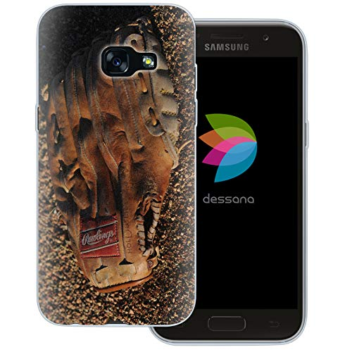 dessana Baseball Transparente Schutzhülle Handy Case Cover Tasche für Samsung Galaxy A3 (2017) Catcher Handschuh