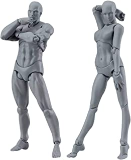 Uranny Body-Chan Model, Mannequin Body Kun Doll Male & Female PVC Action Figure Model with Accessories Kit for Sketching, Painting, Drawing, Artist