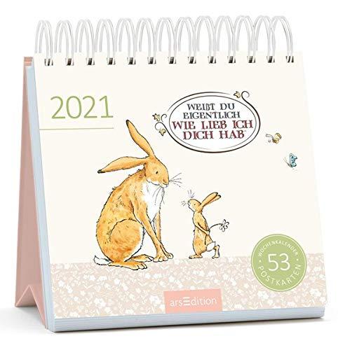 Postkartenkalender Weißt du eigentlich, wie lieb ich dich hab 2021