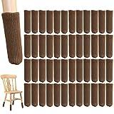 NEPAK 48Pcs High Elastic Knitted Chair Leg Floor Cover,Non-Slip Chair Leg Feet Socks Set,Floor Protectors Non Slip Socks,Fit Furniture Feet Girth from 3