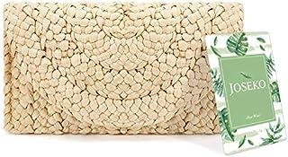 Straw Clutch Handbag, JOSEKO Women Straw Purse Envelope Bag Wallet Summer Beach Bag