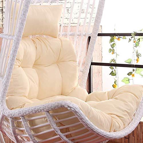 Chair cushion Cuscino per Sedia a Dondolo, Nido Spesso Senza Sedia Cesto Singolo Appeso a Uovo Cuscini per sedie a Forma di Amaca Rimovibili e Lavabili-Beige