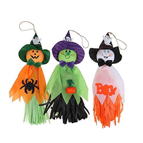 YUUWO Halloween Decoratie Hangende Geest, Pompoen Trench Jas Hanger Voor Terras Gras Tuin Partij En Vakantie Decoratie, 3 STKS